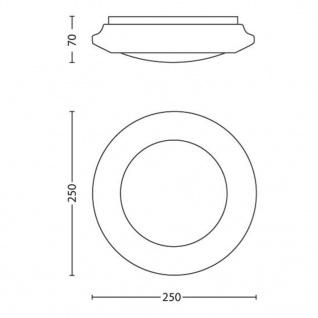 Philips LED Deckenleuchte myLiving Cinnabar Weiß 4x 1, 5W 333613117 - Vorschau 4