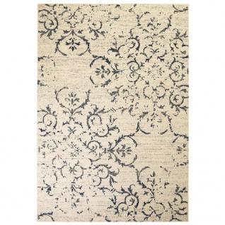vidaXL Teppich Modern Blumenmuster Vintage 140 x 200 cm Beige/Blau