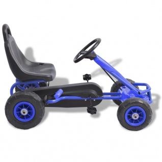 vidaXL Pedal Go-Kart mit Luftreifen Blau - Vorschau 2