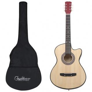 "vidaXL 12-tlg. Western Akustik Cutaway Gitarren-Set mit 6 Saiten 38"""