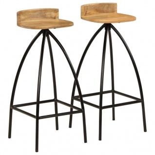 vidaXL Barstühle 2 Stk. Massivholz Mango