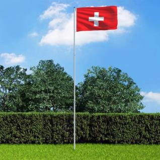 vidaXL Flagge der Schweiz und Mast Aluminium 6 m