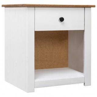 vidaXL Nachttisch Weiß 46 x 40 x 57 cm Massivholz Panama-Kiefer