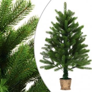 vidaXL Künstlicher Weihnachtsbaum Naturgetreue Nadeln 90 cm Grün
