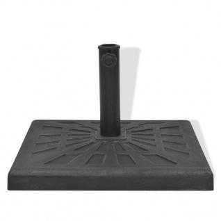 vidaXL Sonnenschirmständer Harz Quadratisch Schwarz 19 kg - Vorschau 3