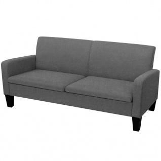 vidaXL 3-Sitzersofa 180 x 65 x 76 cm Dunkelgrau