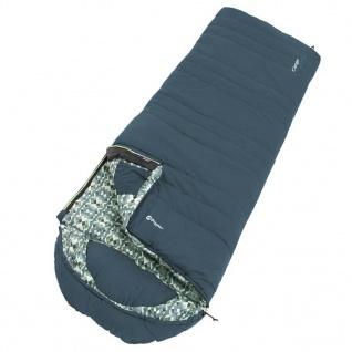 Outwell Schlafsack Camper Blau Reißverschluss Links
