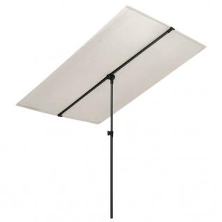 vidaXL Sonnenschirm mit Aluminium-Mast 2x1, 5 m Sandweiß