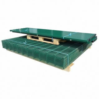 vidaXL Doppelstabmattenzaun Gartenzaun & Pfosten 2008x2030 mm 16m Grün
