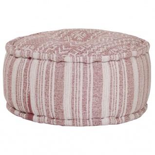 vidaXL Sitzwürfel mit Muster Handgefertigt 50x25 cm Terracotta