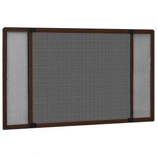 vidaXL Ausziehbarer Insektenschutz für Fenster Braun (75-143)x50 cm