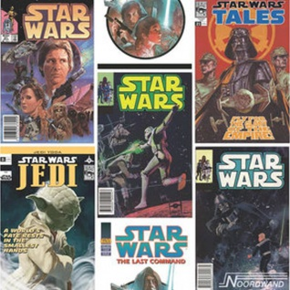 Kids at Home Tapete Star Wars Fronts Mehrfarbig