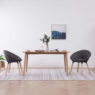 vidaXL Esszimmerstühle 2 Stk. Dunkelgrau Stoff