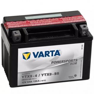 VARTA Powersports Motorradbatterie AGM YTX9-4 / YTX9-BS