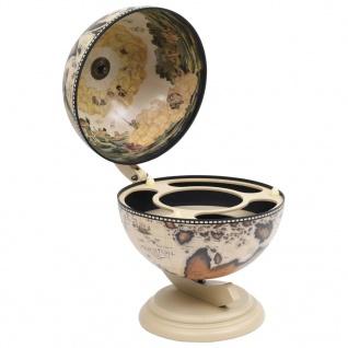 vidaXL Globus-Minibar Flaschenregal Eukalyptusholz Weiß