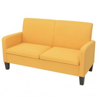 vidaXL 2-Sitzersofa 135 x 65 x76 cm Gelb
