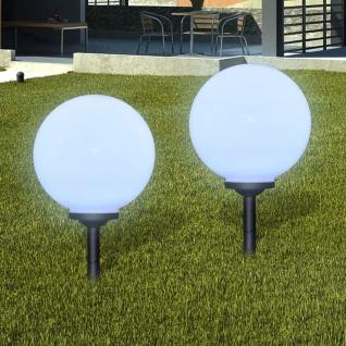 Außenlampe Solarlampe LED Gartenkugel 2 Stk. 30cm mit Erdspieß