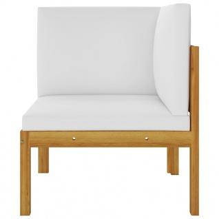 vidaXL 2-Sitzer-Gartenbank mit Kissen Massivholz Akazie - Vorschau 4