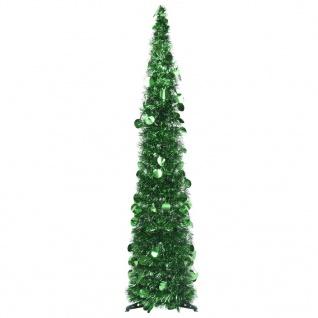 vidaXL Künstlicher Pop-Up-Weihnachtsbaum Grün 120 cm PET