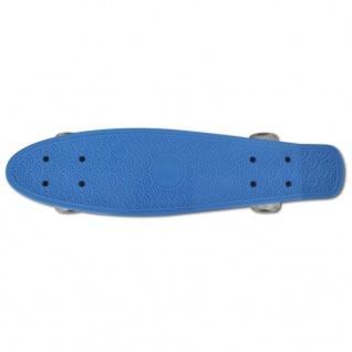 Skateboard, Blau Retro mit LED Rollen - Vorschau 3