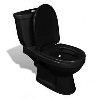 vidaXL Toilette mit Spülkasten Schwarz