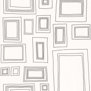 Kids at Home Tapete Frames Weiß und Schwarz 52050 KIDS