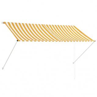 vidaXL Einziehbare Markise Gelb und Weiß 250 x 150 cm