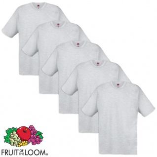 5 Fruit of the Loom Original T-Shirt 100% Baumwolle Grau XXL