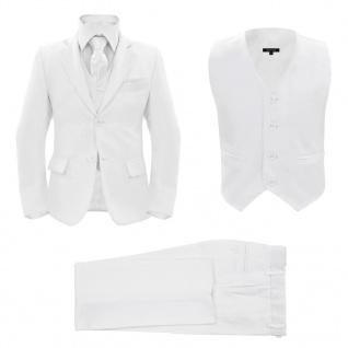 vidaXL Jungen-Anzug 3-tlg. Größe 140/146 Weiß