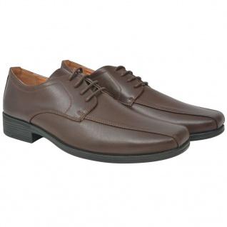 vidaXL Business-Schuhe Herren Schnürschuhe Braun Größe 45 PU-Leder