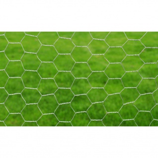 vidaXL Maschendraht Verzinkter Stahl 25×0, 5 m Silbern - Vorschau 3