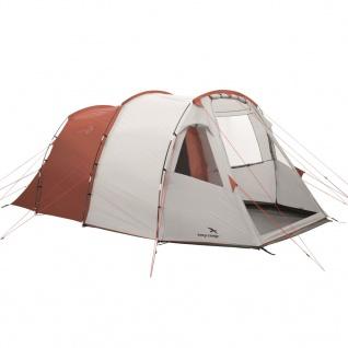 Easy Camp Zelt Huntsville 500 für 5 Personen Rot und Cremeweiß