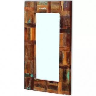 vidaXL Spiegel Recyceltes Massivholz 80 x 50 cm
