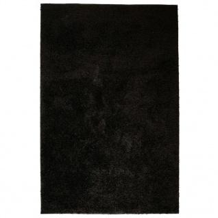 vidaXL Shaggy-Teppich 160 x 230 cm Schwarz