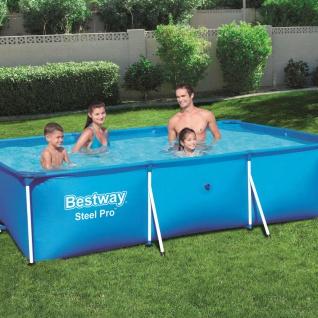 Bestway Steel Pro Swimming Pool mit Stahlrahmen 300x201x66 cm 56404