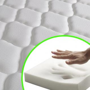vidaXL Bett mit Memory-Schaum-Matratze Dunkelgrau Stoff 120×200 cm - Vorschau 3