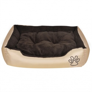 Hundebett mit weicher Polsterung Größe S Beige - Vorschau 4