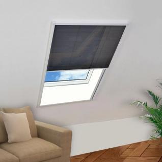 vidaXL Insektenschutz-Plissee für Fenster Aluminium 80 x 120 cm