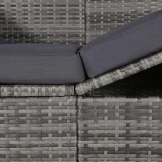 vidaXL Gartenbett mit Baldachin Grau 205×62 cm Poly Rattan - Vorschau 2