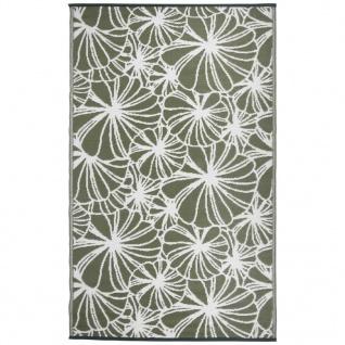 Esschert Design Outdoor Gartenteppich 241×152 cm Blumenmuster OC21