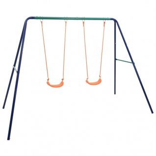 vidaXL Schaukelset mit 2 Sitzen Stahl