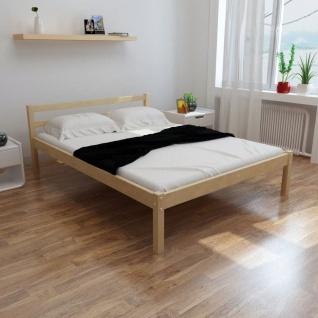vidaXL Bett mit Matratze 140×200 cm Massives Kiefernholz