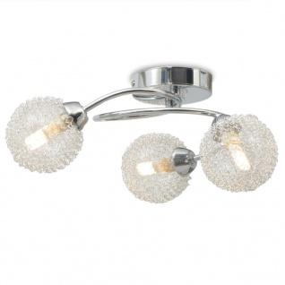 vidaXL Deckenleuchte mit 3 LED-Glühlampen G9 120 W