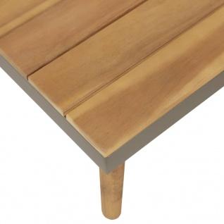 vidaXL 4-tlg. Garten-Lounge-Set mit Auflagen Massivholz Akazie Braun - Vorschau 4