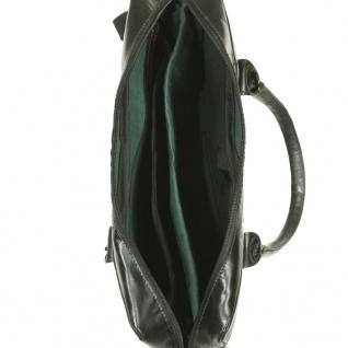 vidaXL Laptoptasche mit Reißverschluss Echtleder Schwarz - Vorschau 3