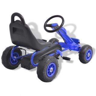 vidaXL Pedal Go-Kart mit Luftreifen Blau - Vorschau 4