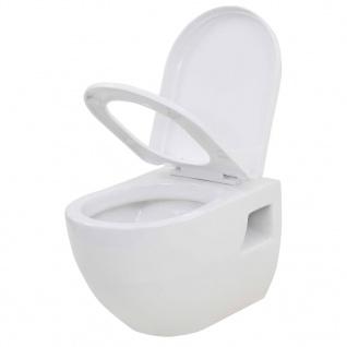 vidaXL Wand-WC Keramik Weiß - Vorschau 4