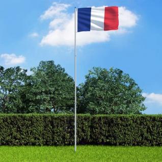 vidaXL Flagge Frankreichs und Mast Aluminium 6 m