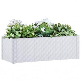 vidaXL Garten-Hochbeet mit Selbstbewässerungssystem Weiß 100x43x33 cm