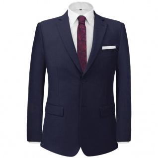 vidaXL 2-tlg. Business-Anzug für Herren Marineblau Gr. 50